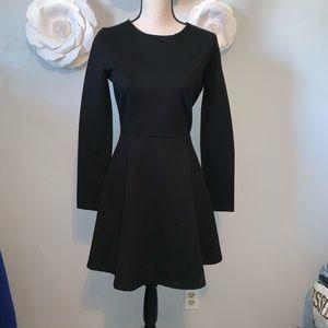 LuLu's Ponte Skater Forever Chic Mini Dress I743
